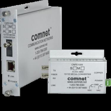 Convertisseur industriel 10/100Mbps vers Fibre Optique SC/ST - Comnet