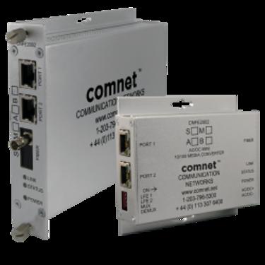 Convertisseur industriel Fibre Optique SC/ST/SFP vers RJ45 10/100 PoE (PSE) - Comnet