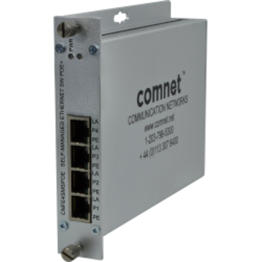 CNFE4MSPOE Switch Ethernet industriel semi-manageable 10/100 4 ports option PoE - Comnet