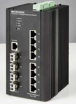 MS657308PMX - switch industriel 10 Gigabit L2/L3 8 ports - Microsens