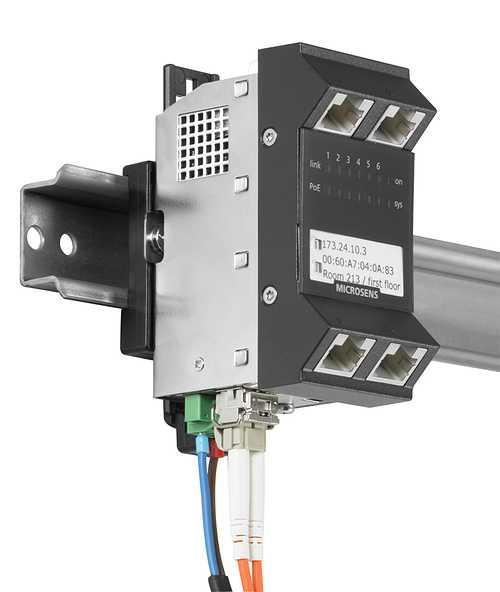 Support Rail DIN pour Micro Switch Génération 6 - MICROSENS ruggedizedmicroswitchvertikal72dpi1024px