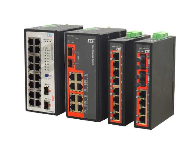 IFS-1602GS Switch Industriel Plug&Play 16 ports RJ45 Fast Ethernet 2 ports SFP- CTC UNION