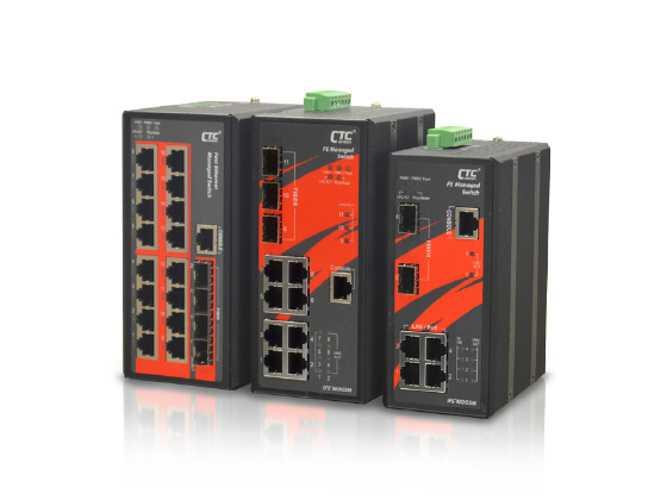 IFS+803GSM Switch Industriel Manageable 8xRJ45 10/100 + 3 SFP - CTC UNION