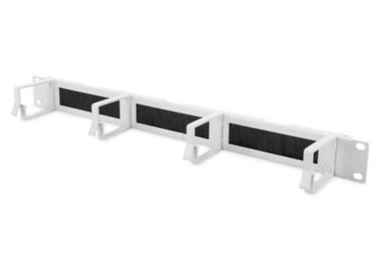 Bandeau balai passe câbles 1U 19'''' Gris DN-97660 - DIGITUS